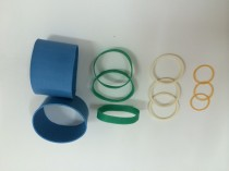 From thin to thick cut width rubber band